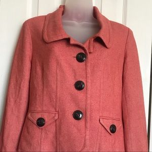 Talbots peachy orange blazer jacket